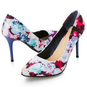 Ashley Stewart Floral Shoes 8Wide